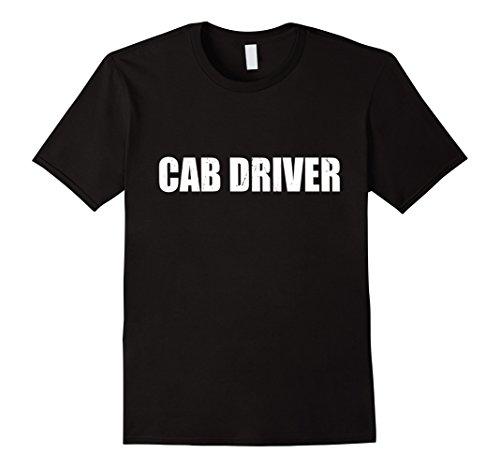 Cab Driver Costume (Mens Cab Driver Halloween Costume Party Cute & Funny T shirt Medium Black)