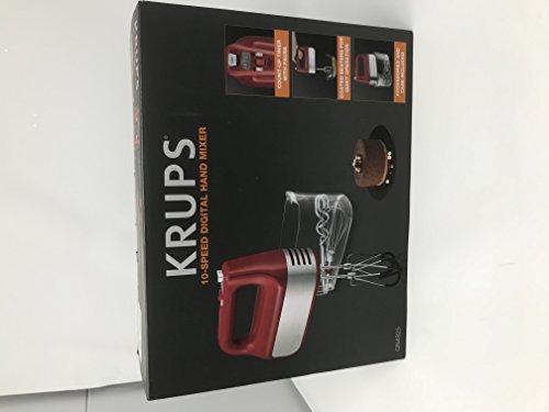 Krups Red 10-Speed Digital Hand Mixer Model GN492551