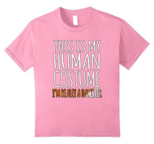 Kids Funny Human Halloween Costume T-Shirt For A Hamster 10 (Halloween Costumes For Hamsters)