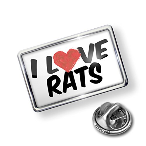 discount Pin I Love Rats - Lapel Badge - NEONBLOND get discount