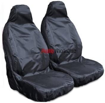 HEAVY DUTY BLACK WATERPROOF SEAT COVERS 1-1 FIESTA MK7 09-