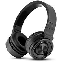 AT&T PBH20-BLK Over-Ear Bluetooth 3.0 Stereo Headphones with 4 Hours of Continuous Playback and Built in Mic, Black
