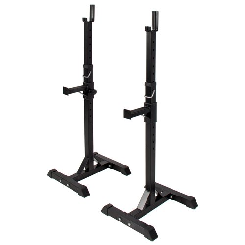 Pair-of-Adjustable-Standard-Solid-Steel-Squat-Stands-Barbell-Free-Bench-Press-Stands