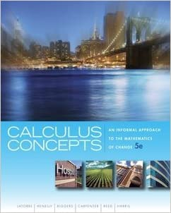 Book CALCULUS CONCEPTS >CUSTOM<