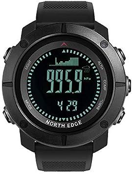 Zebroau North Edge Reloj Inteligente Multifuncional Retroiluminación LED Brújula Impermeable, Relojes de Pulsera Digitales para Deportes al Aire Libre Correr Natación Militar