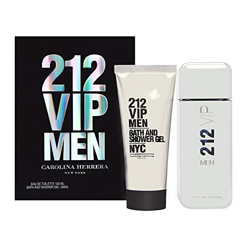 - Carolina Herrera 212 Vip Gift Set 3.4 oz Eau De Toilette Spray + 3.4 oz Shower Gelf or Men