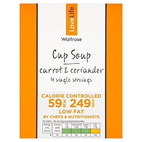 Waitrose Love Life Carrot & Coriander Cup Soup 4 x 16g