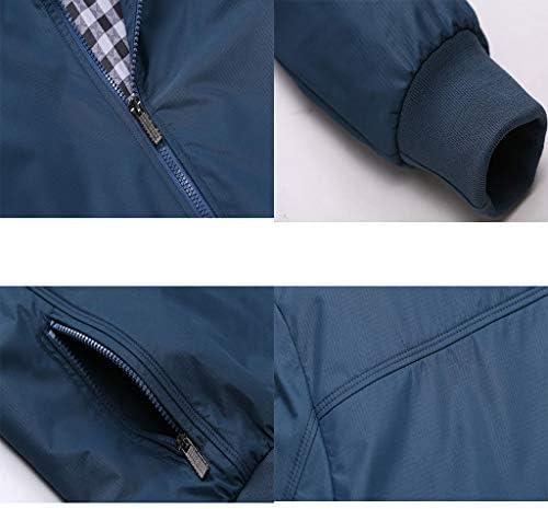 Veste pour Homme décontractée élégante Bomber Manteau léger Vintage Outwear Vestes et Manteaux