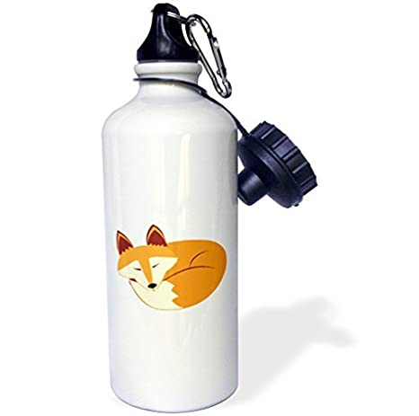 wenyige8216 Cute Sleeping Red Fox botella de agua deportiva, rojo, color blanco: Amazon.es: Deportes y aire libre