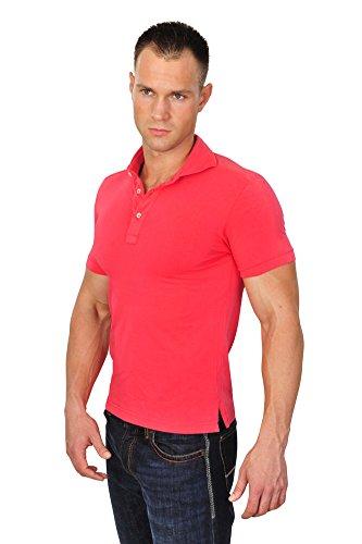 Callisto Campora Polo Poloshirt Herren Rot Slim Fit Baumwolle Casual M