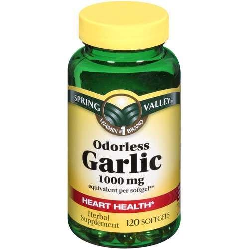 Spring Valley - Sans odeur d'ail de 1000 mg, 120 gélules