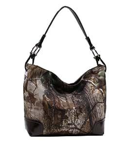 Emperia Women's Boho Bag with Luxury Hardware Rings, Realtree Coffee/Brown, Medium