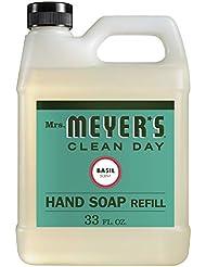 Mrs. Meyer's Liquid Hand Soap Refill, Basil, 33 Fluid Ounce (Basil, Pack of 1)