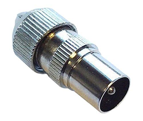 Bulk Hardware BH04746 Male Metal Coaxial TV Aerial Plug - Pack of 2