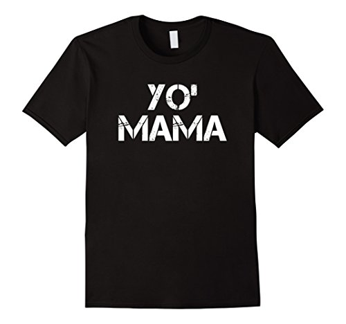 Mens Yo Mama T-Shirt | Funny Halloween Costume Tee | Jokes Large Black