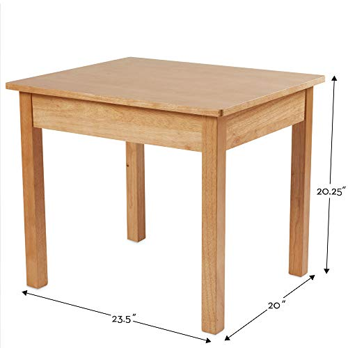 "Melissa & Doug Solid Wood Table & Chairs (Kids Furniture, Sturdy Wooden Furniture, 3-Piece Set, 20"" H x 23.5"" W x 20.5"" L)"