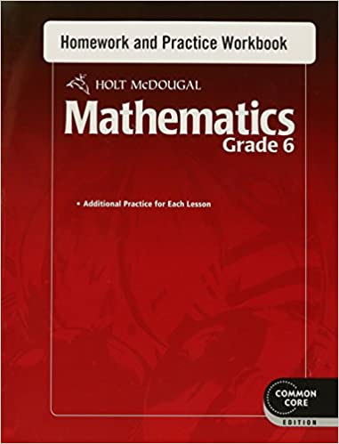 Worksheets Holt Mcdougal Mathematics Worksheets holt mcdougal mathematics homework and practice workbook grade 6 1st edition