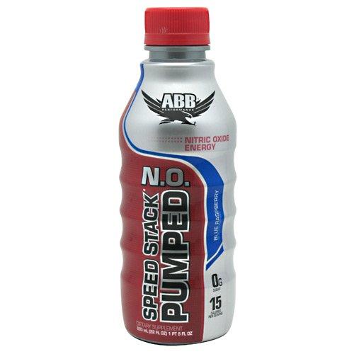 ABB Speed Stack Pumped N.O. Blue Raspberry 12 - 22 fl oz (1 pt 6 fl oz) bottles