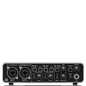 BEHRINGER U-PHORIA UMC204HD with AmazonBasics...