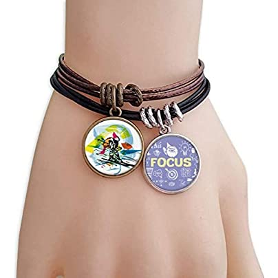 SeeParts Winter Sport Freestyle Skiing Illustration Bracelet Rope Wristband Force Handcrafted Jewelry Estimated Price £9.99 -