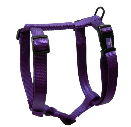 Hamilton Adjustable Comfort Nylon Dog Harness, Purple, 3/4