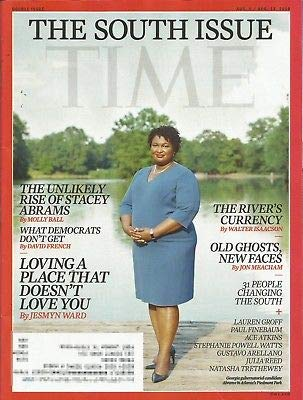 Time Magazine (August 6, 2018 - August 13, 2018) The South Issue: Stacey Abrams Cover