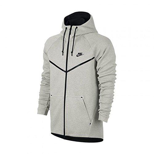 22336e5c5907 Galleon - Men s Nike Sportswear Tech Fleece Windrunner Light Bone BlackNEW  (MEDIUM)