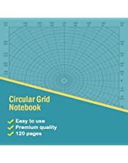 """Circular Grid Notebook: 8.5"""" x 8.5"""" polar coordinate graph paper notebook / 120 pages"""