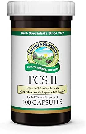 Nature's Sunshine FCS II with Lobelia, 100 Capsules | Herbal Formula Nutritionally Supports The Female Urinary and Reproductive Systems