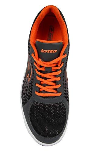 Lotto Men Pitlane Grey/Orange Leisure Shoes 8 UK/India