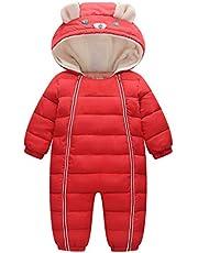 Baby snödräkter overaller med huva vinter sparkdräkt bomull jumpsuit kläder 9–24 månader