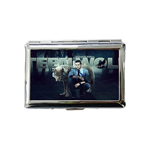 Teen Wolf Custom Style Classic Metallic Silver Color Stainless Steel ID Cigarette Case Holder Credit Card RFID Protective Security Wallet