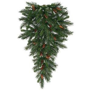 Medium Cone Top Hanging (Vickerman Cheyenne Teardrop with Dura-Lit 50 Clear Lights and 80 Tips, 30-Inch)