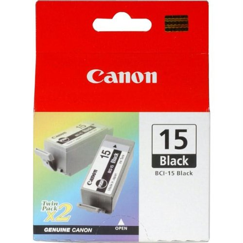 Inkjet Printers Ip90 (Canon BCI-15 Black Ink Cartridge. 2PK BCI-15BK BLACK INK CART PIXMA IP90/ BJC I70/ BJC I80 I-SUPL. Black - Inkjet - 2 / Pack - Retail)