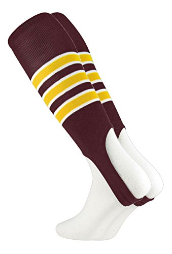 MadSportsStuff Baseball Stirrups by TCK Pattern D (Maroon/Gold/White, ()