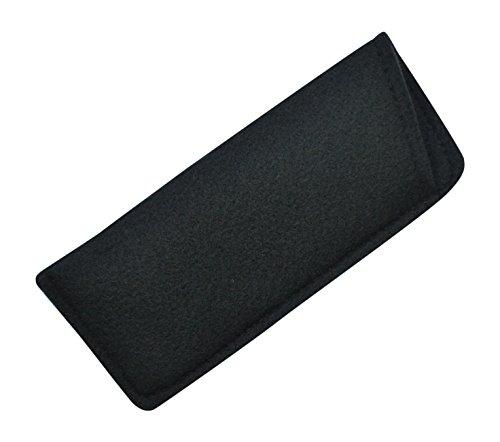 Soft Felt Durable & Light Eyeglass Slip-In Case Classic Design Jet Black