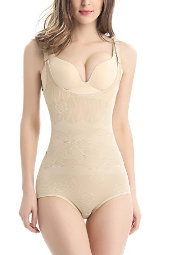 AMAGGIGO Women Lightweight Shapewear Firm Control Body Briefer Slimmer Full...