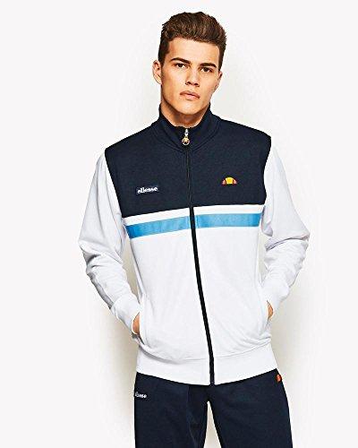 Ellesse Tennis Apparel - ellesse Men's Transimeno 2 Track Top, White, Large