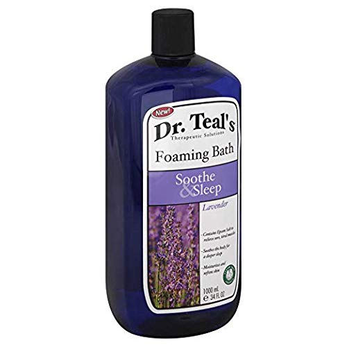 Dr. Teal's Foaming Bath, Lavender Soothe & Sleep Foaming Bath with Pure Epsom Salt, 1,000 ML ()