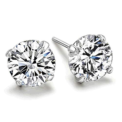 Earring Backs - 925 Sterling Silver Classic Fashion 3mm 4mm 5mm 6mm Four Claws Zircon Stud Earrings for Women Men Gift oorbellen - Studs Soft Claw