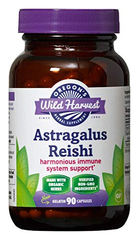 Oregon s Wild Harvest Organic Astragalus Supplement, 90 Count Pack of 3