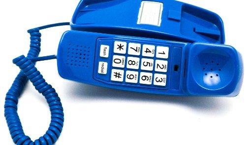 Trimline Corded Phone - Phones For Seniors - Phone for hearing impaired - Classic Blue - Retro...