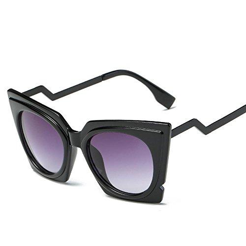 Aoligei Lunettes de soleil fashion tendance minimaliste de la mode rétro Europe et les États-Unis vent réflectorisé lunettes de soleil A