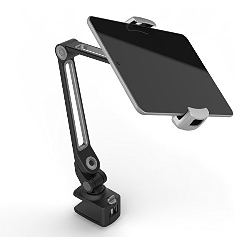 "1.5' Spine (Tablet Phone Clamp Stand Holder LARICARE Suit 4-11""Double Distance 360 Degree Swivel Adjustable Sturdy Aluminum Fits Camera, iPad, iPhone, Samsung, Tablet, Surface Pro, Nintendo Switch LD203B (black))"