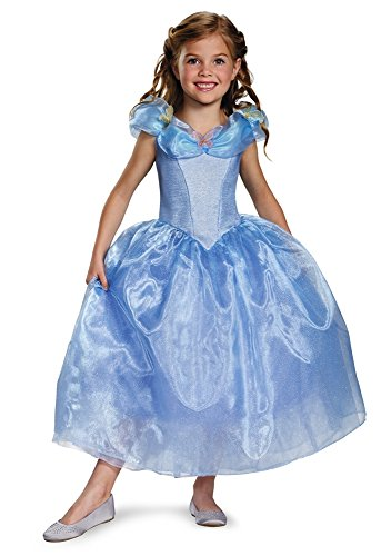Disguise Girls Cinderella Live Action Girls' Cinderella Deluxe Costume, G (10-12) (Girls Dresses Brand Cinderella)