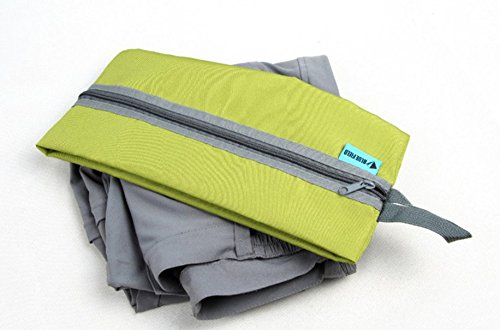 Green Zehaer Portable Waterproof Pouch Zipper Toiletry Shoes Storage Bag for Travel