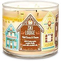 White Barn Bath & Body Works 3 Wick Candle Hot Coco & Cream Ski Lodge