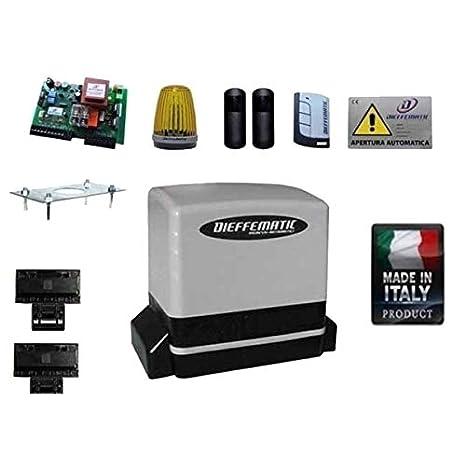 Dieffematic Kit Automazione Cancello Scorrevole Elettrico Faac Bft