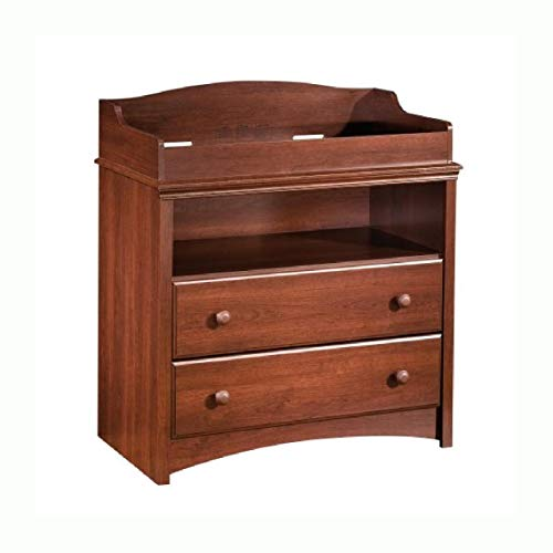 Bedroom, 2-Drawer Changing Table with Open Shelf in Royal Cherry ()