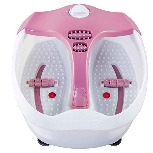 (Safeplus Electrical Foot Basin Portable Foot Spa Massager with Heating & Bubbles Point Massage)